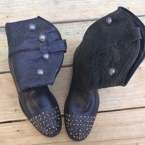 Star studded cowboy boots